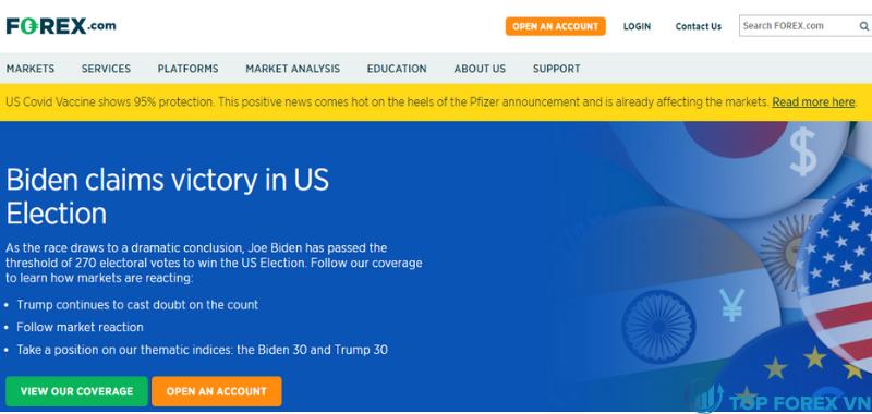 Đánh giá sàn Forex.com