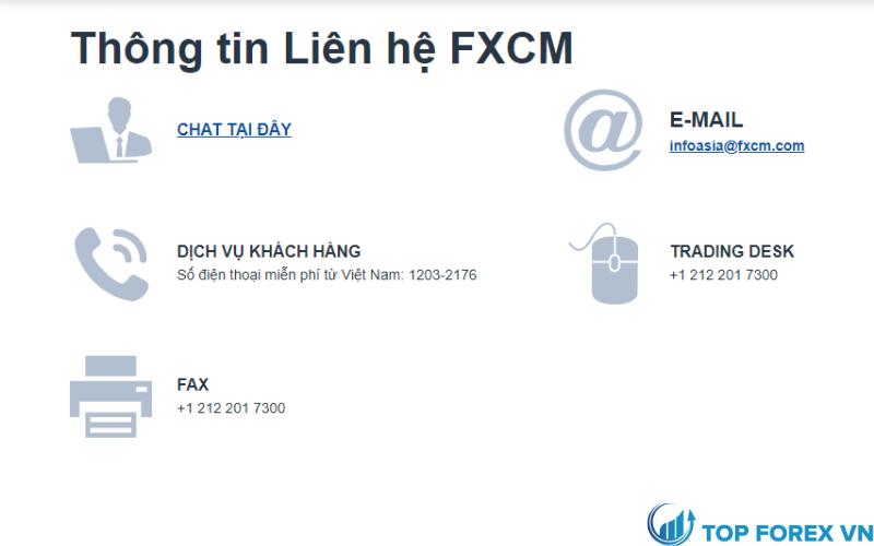 Dich vụ khách hàng FXCM