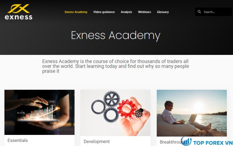 Học viện tại Exness
