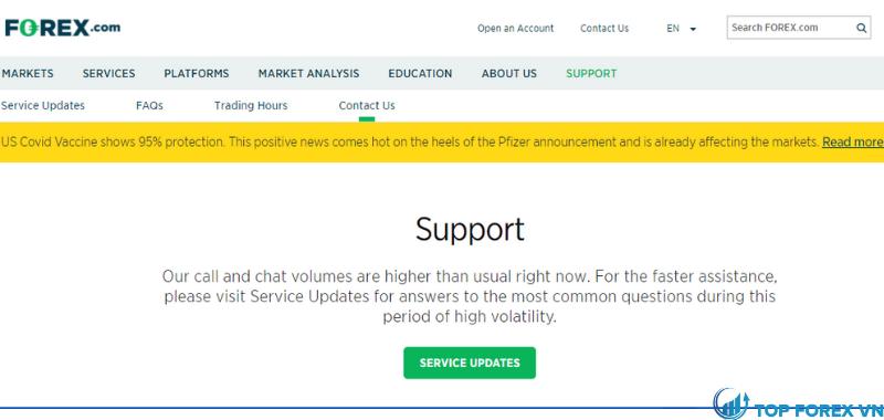 Hỗ trợ tại forex.com