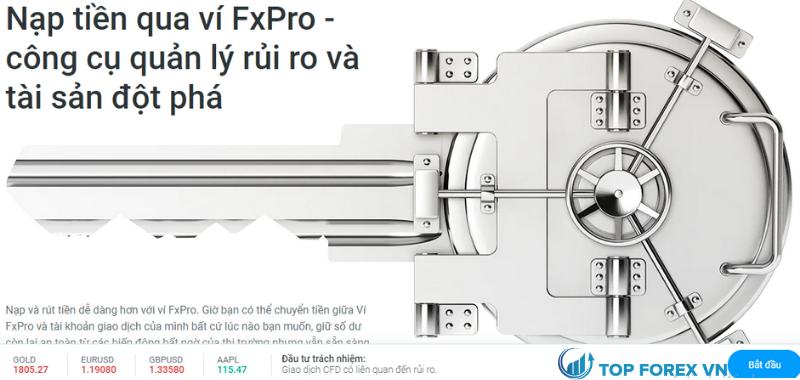 Nạp tiền tại FXPro