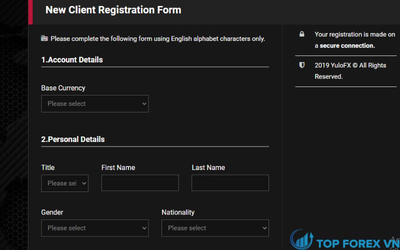 Đăng ký tài khoản YuloFX