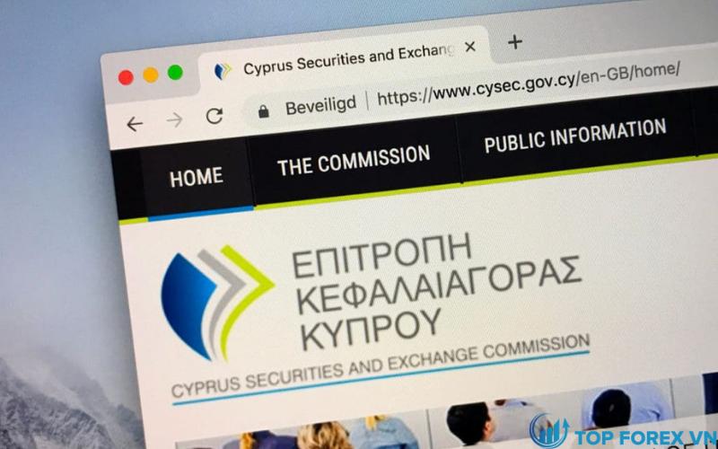 Trang web CySEC