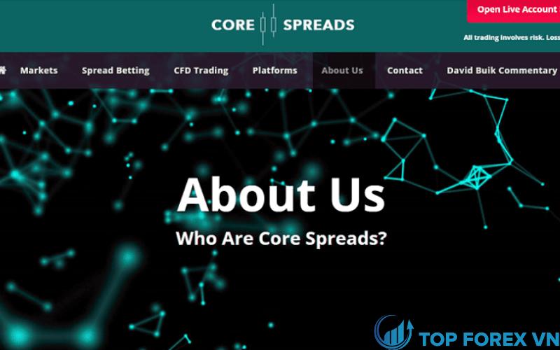 Đánh giá sàn Core Spread cho trader mới