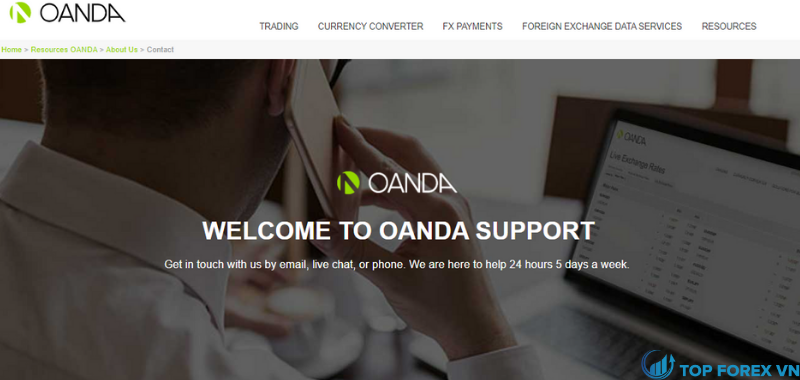 Dịch vụ khách hàng Oanda