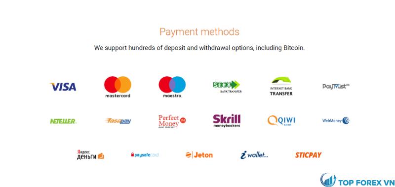 Cách gửi và rút tiền tại Binary.com là gì