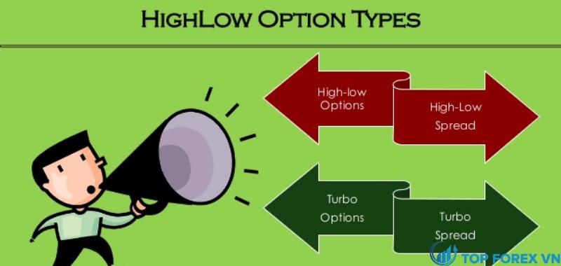 Đánh giá sàn Highlow qua các loại giao dịch