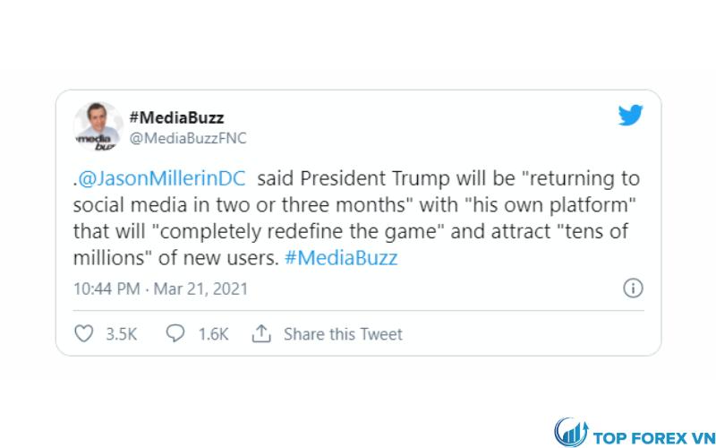 Donald Trump đang tạo MXH riêng