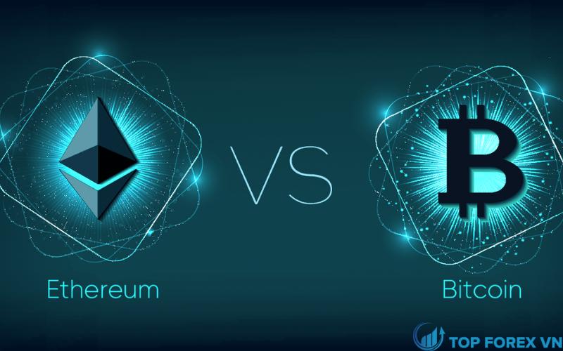 Sự khác biệt của Bitcoin so với đồng Ethereum là gì