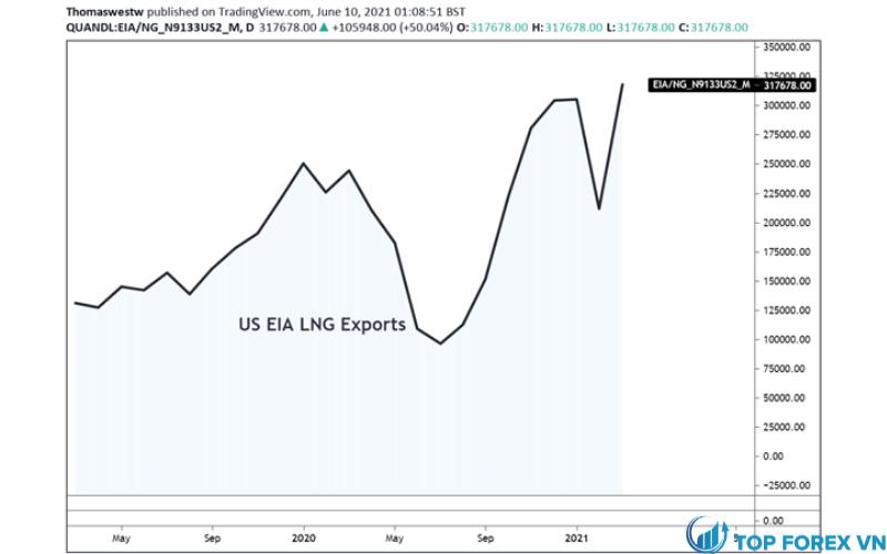 Biểu đồ xuất khẩu