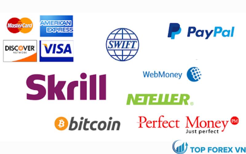 Các tùy chọn gửi tiền và rút tiền tại sàn giao dịch forex
