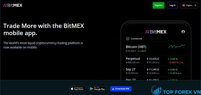 Ứng dụng di động Bitmex là gì